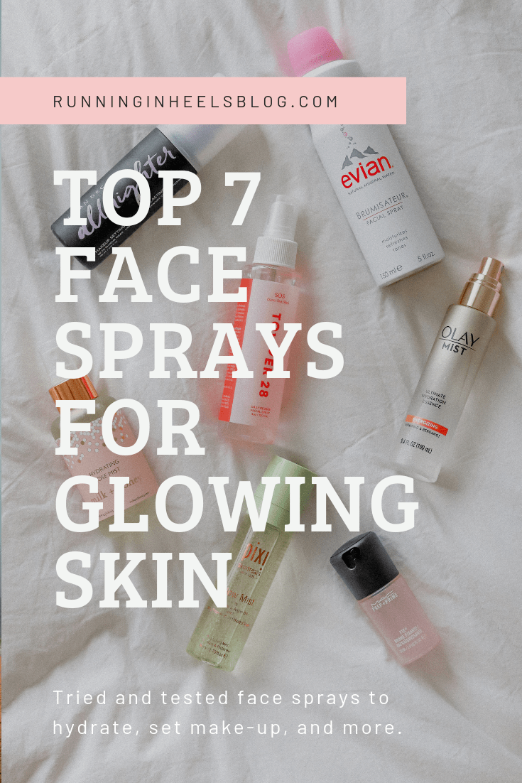 Best Face Sprays for Glowing Skin featured by top US beauty blog, Running in Heels