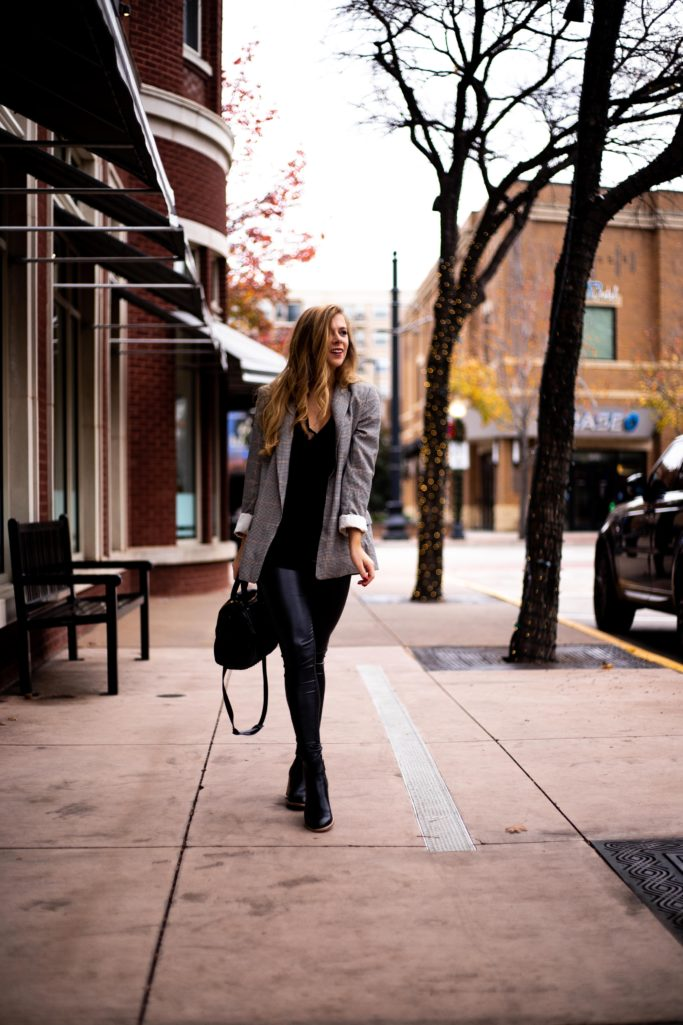 Running In Heels - How to Dress Down A Blazer