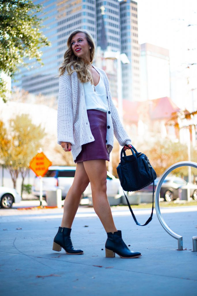 How to Wear Waffle Knit Sweaters