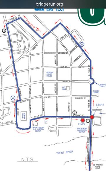 Bridge Run 5k Map