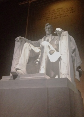 Lincoln on his Throne of Fasces
