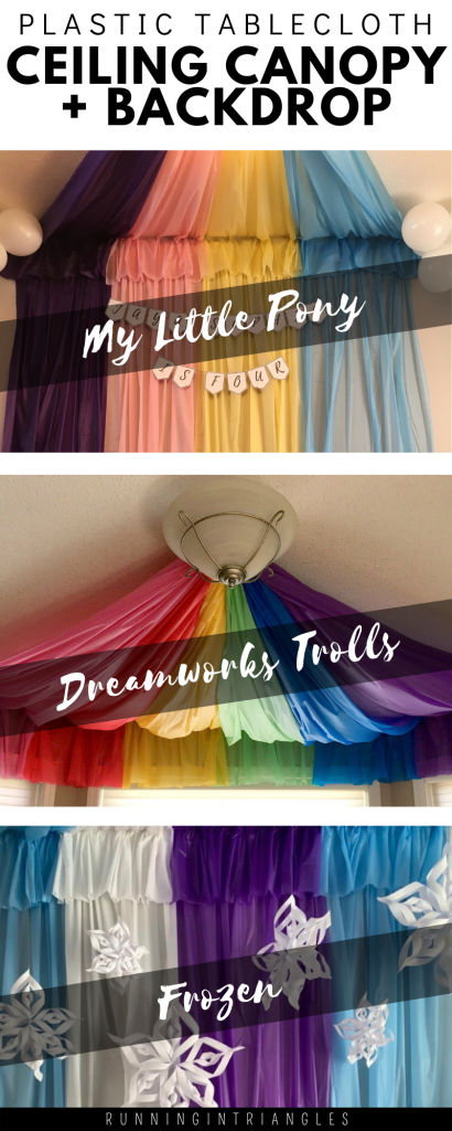 Plastic Tablecloth Ceiling Canopy and Backdrops