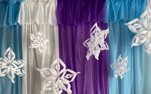 Frozen Theme Party Ceiling Canopy