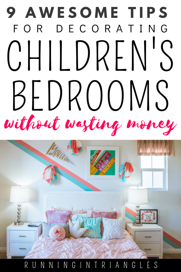Tips for decorating children's bedrooms without wasting money