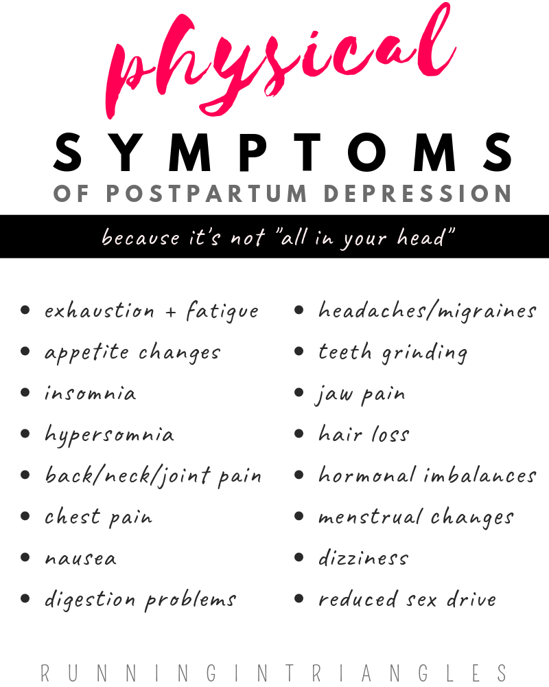 Physical Symptoms of Postpartum Depression