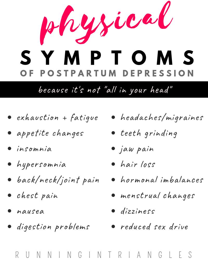 Physical Symptoms of Postpartum Depression