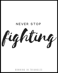 Never Stop Fighting