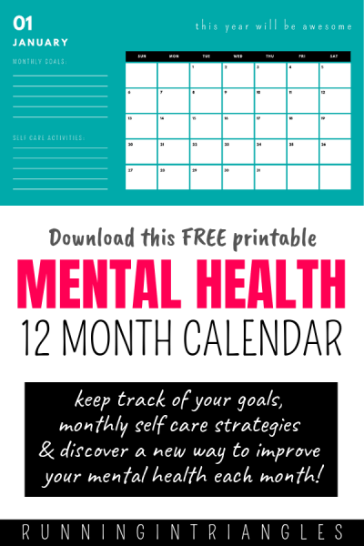 12 Ways to Improve Your Mental Health This Year, Download a Free Calendar!