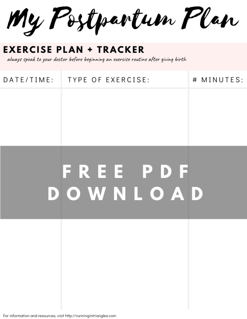 Postpartum Exercise Tracker