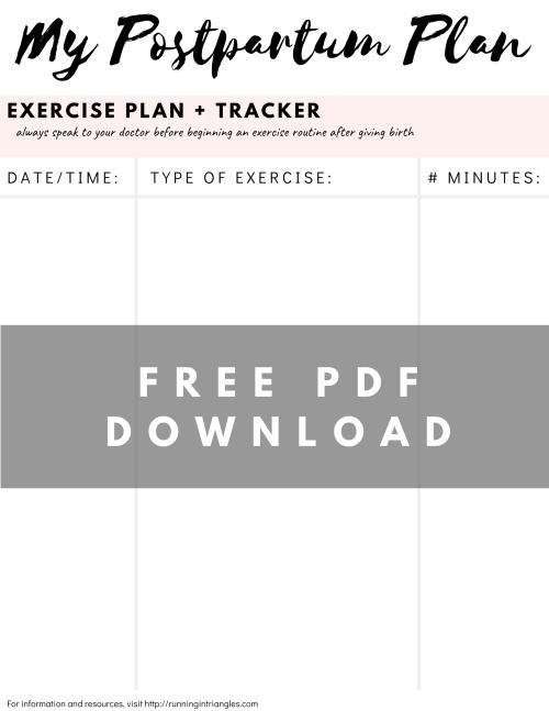 Postpartum Exercise Tracker
