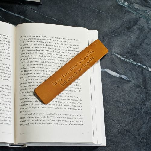 A Leather Bookmark.