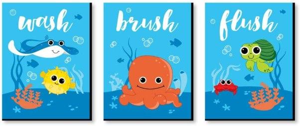 Kids Bathroom Art