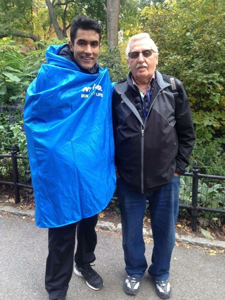 Juan Luis Barrios y Tadeusz Kepka despues del TCS New York City Marathon 2015.