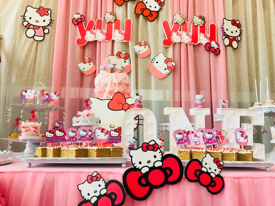runningmen catering baby shower event footage with photo booth hello kitty cup cakes