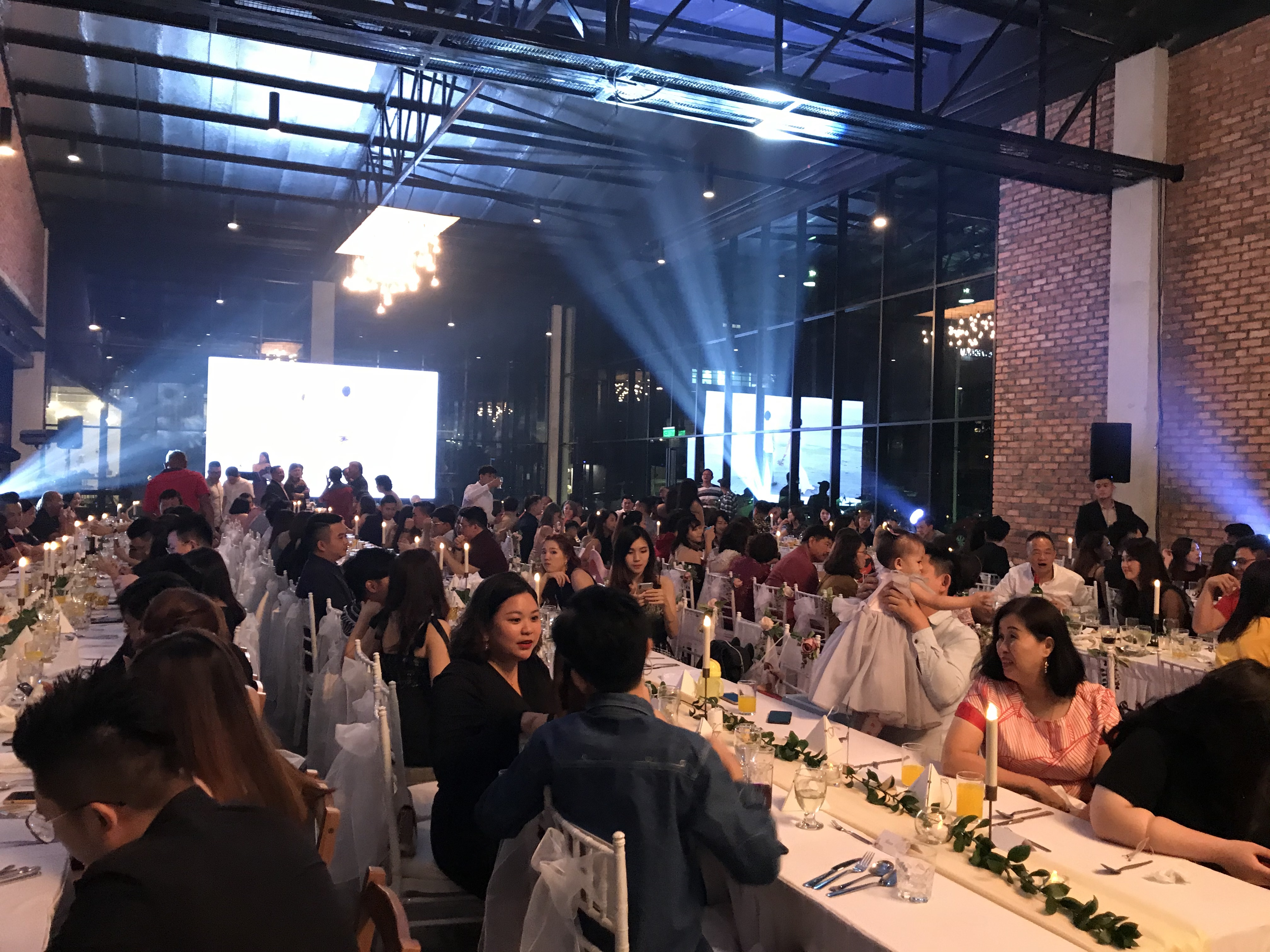 runningmen catering sit down menu event footage