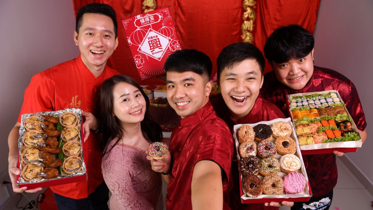 runningmen catering chinese new year specials promo 2021 cny cover with people holding food