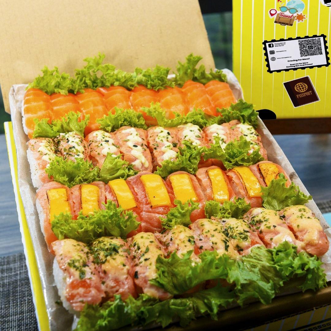 foodie box salmon sushi box