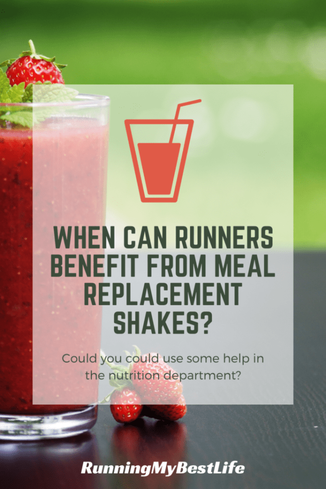When Can Runners Benefit from Meal Replacement Shakes