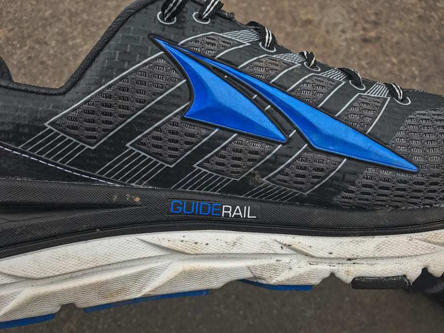 Altra Provision 3.0 GuideRail on the interior medial. Support!