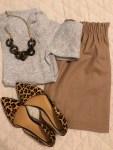 leopard trend, skirt fashion, casual, work wear, sweaters