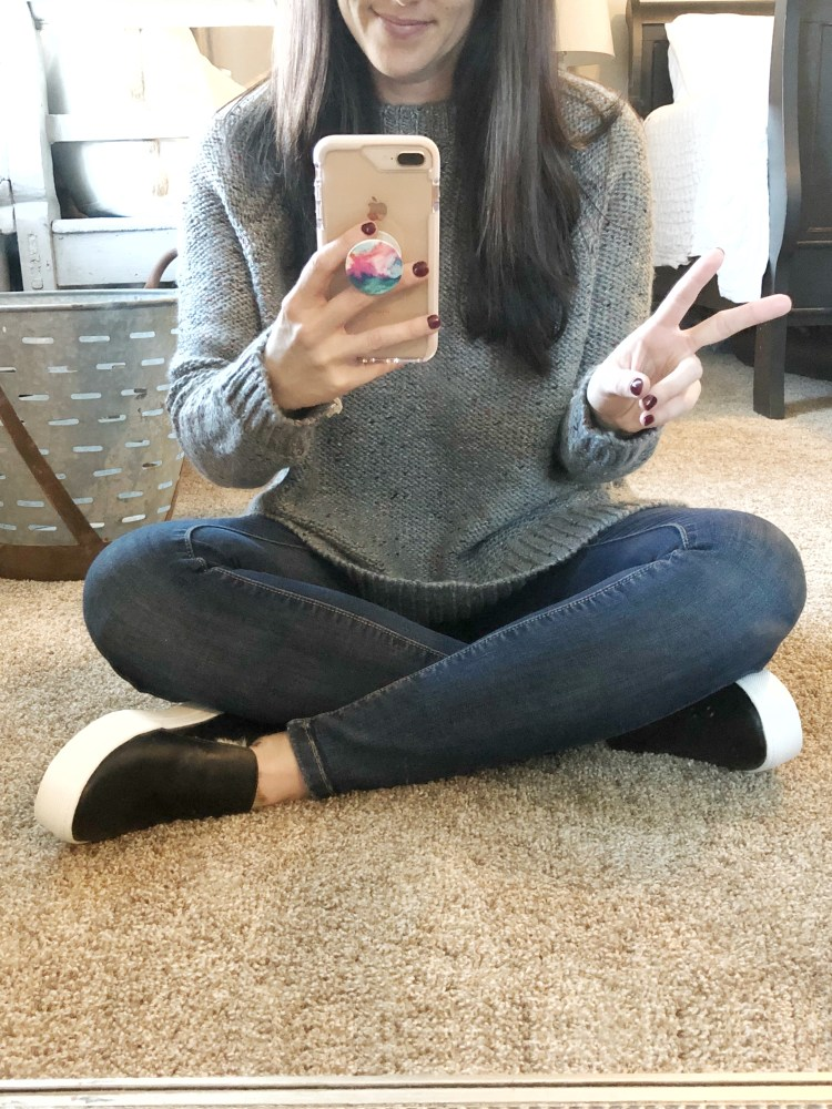 Target grey sweater