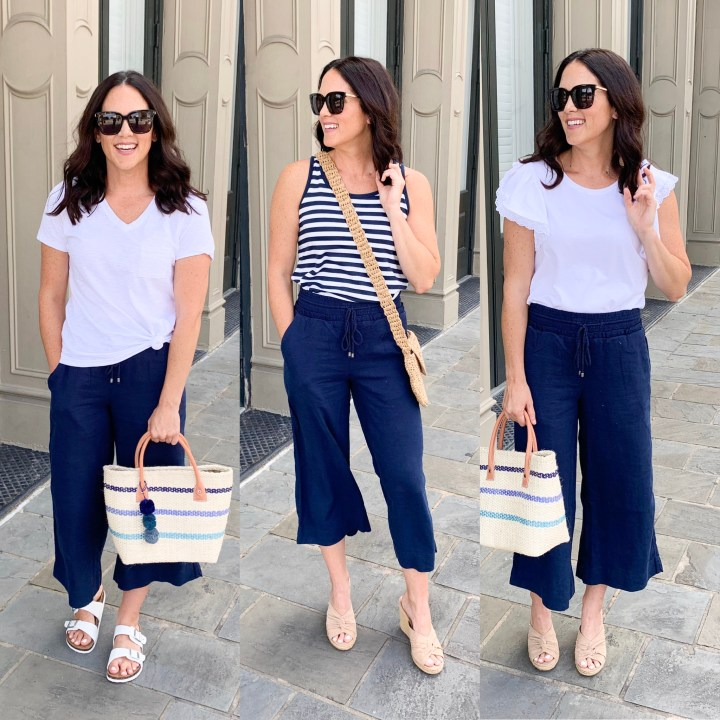 LINEN PANTS STYLED 4 DIFFERENT WAYS