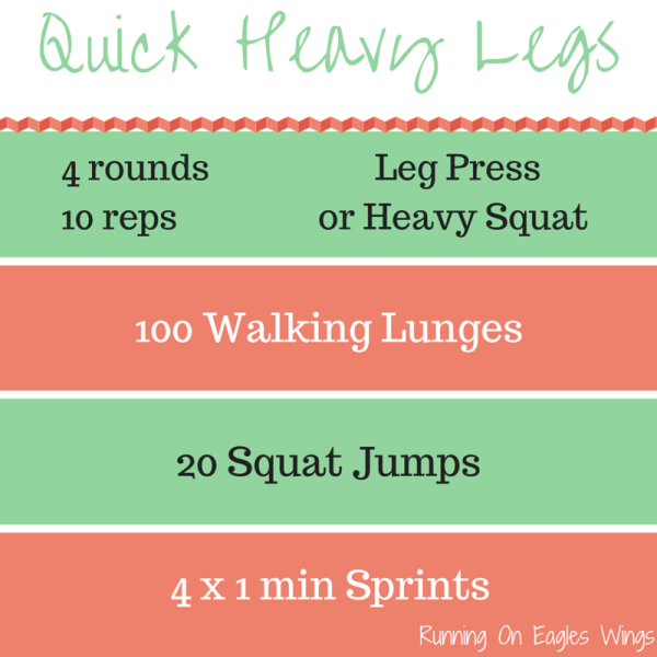 "Running On Eagles Wings"" Quick Heavy Legs Workout"" ""Metabolic Effect"""