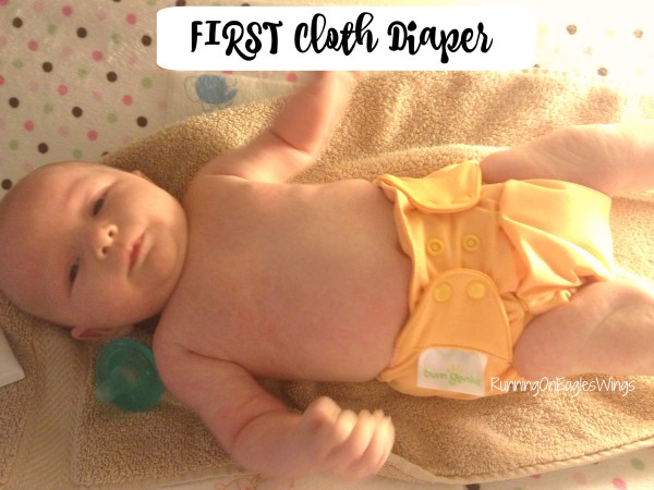 First Cloth Diaper Bumgenius Pocket 7 weeks