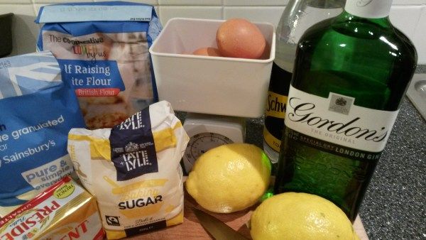 ingredients for gin and tonic cake