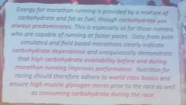Slide on importance of carbohydrates and nutrition