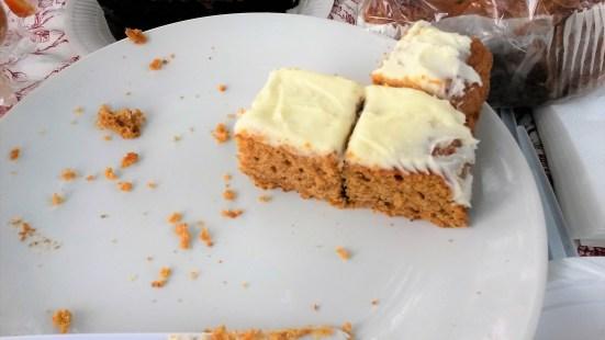 Sweet potato cake - not much left