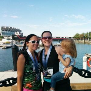 Rachel and Noemi | Rock Hall Half Marathon | Running on Happy