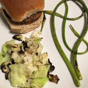 Grilled Garlic Scapes   Meatless Monday   Running on Happy
