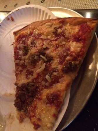 I highly recommend the meatball parm slice.