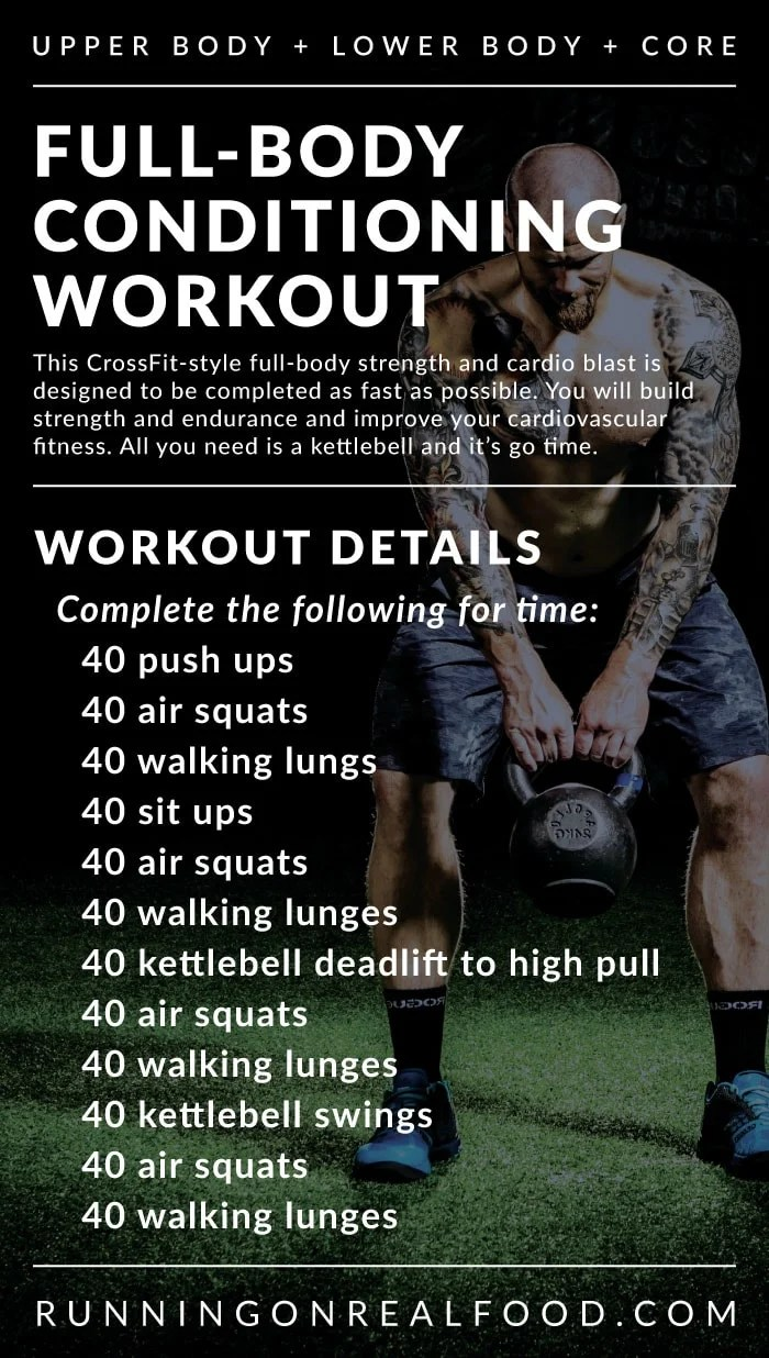 Tabata Sprints and a CrossFit-Style Full-Body Conditioning Workout