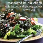 Massaged Kale & Chard Salad with Berries and Creamy Cashew Dressing