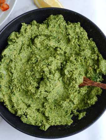 Healthy Vegan Kale Hummus