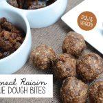 Oatmeal Raisin Cookie Dough Bites - Raw & Vegan | Running on Real Food