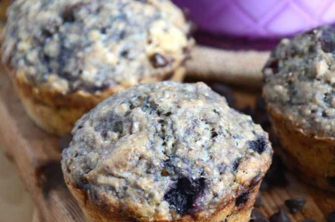 Vegan Blueberry Chocolate Chip Muffins