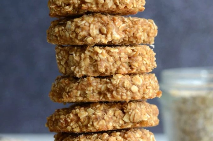 Low Fat Peanut Butter Oatmeal Cookies