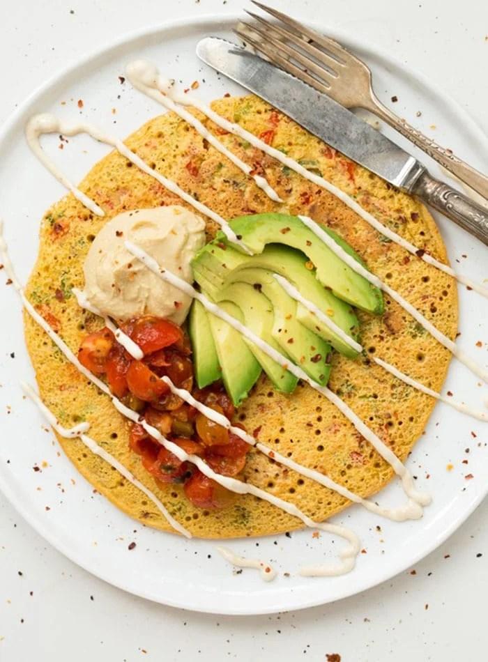 Vegan Chickpea Omelet | Easy Healthy Vegan Breakfast Recipes and Ideas