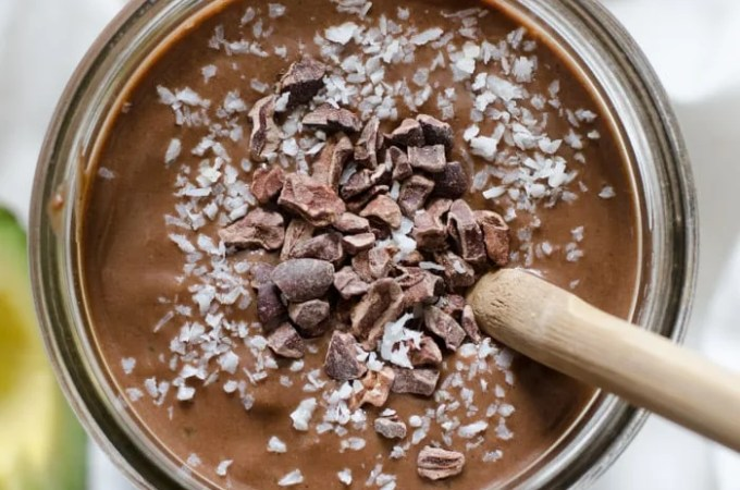 Superfood Chocolate Almond Avocado Smoothie
