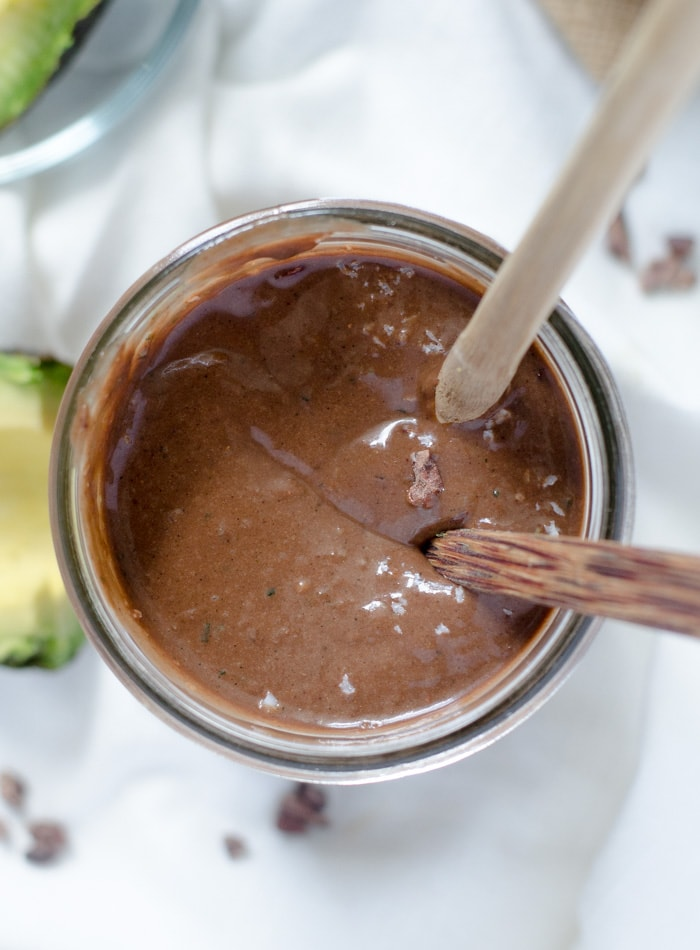 Superfood Chocolate Almond Avocado Smoothie   High in fibre, high in protein, vegan