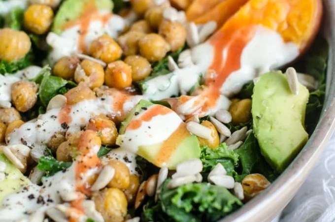 Roasted Chickpea Kale Salad