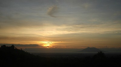 View of the sunrise from Haduan