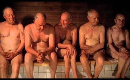 oude mannen in sauna