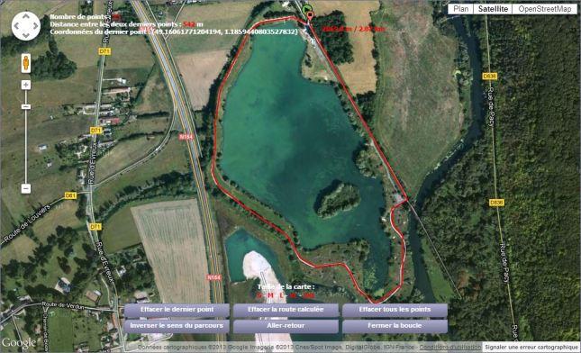 Et voilà ! 2km mon tour de lac !