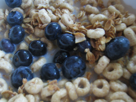 Cereal-blueberries