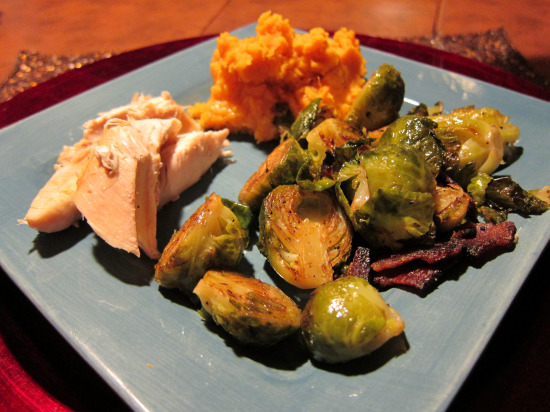 11.21 roast chicken and brussel sprouts