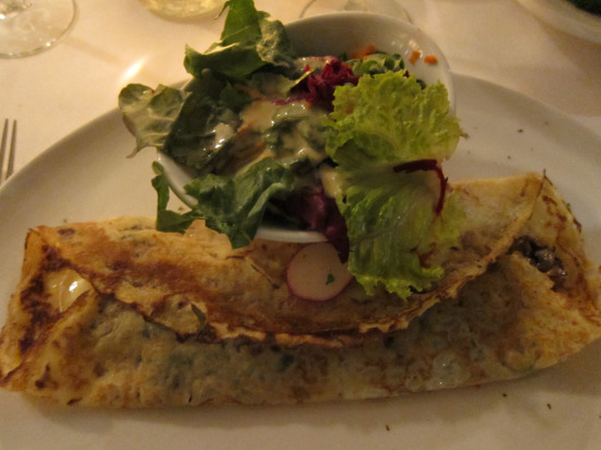 12.5 Pancetta and Brie Crepe